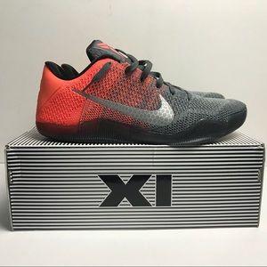 Nike Kobe XI 11 Elite Low Easter Gray Mango Sz 13